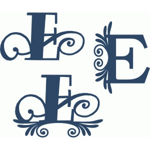flourish monogram set - e
