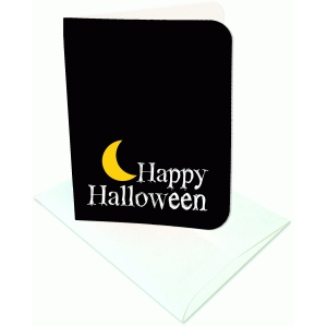 happy halloween a2 card