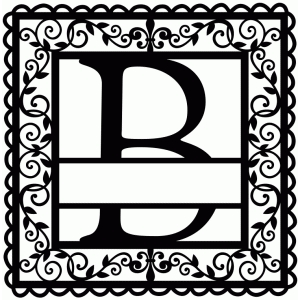 wrought iron vine initial b