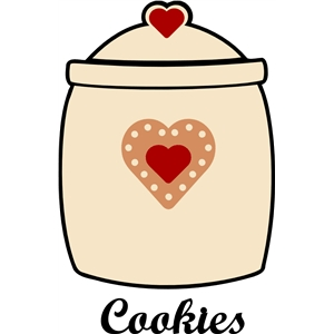 heart suger cookies jar