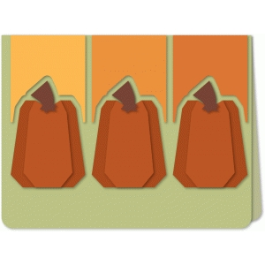 tall pumpkin trio a6 card