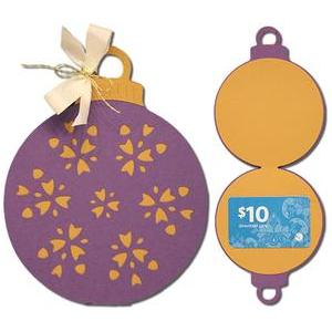 ornate ornament gift card holder