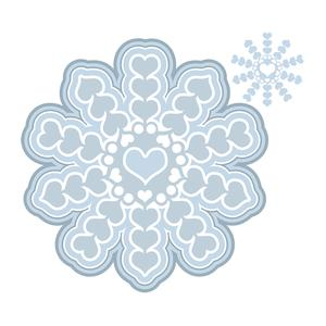 nested heart snowflake