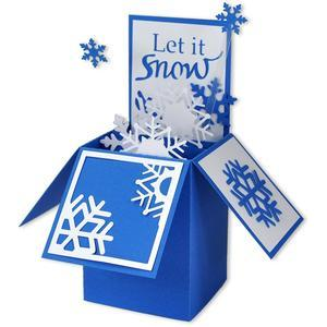 snowflake card in a box
