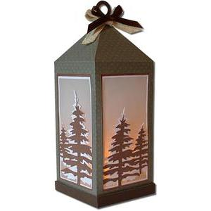 winter woodland lantern (flameless)
