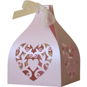 3d hearts favor box