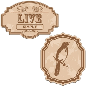vintage labels - live simply