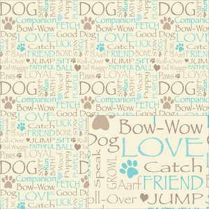 dog words pattern