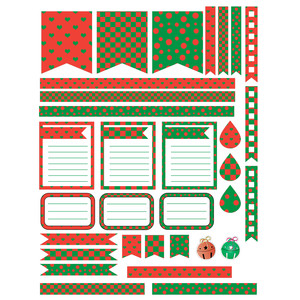 red & green planner stickers