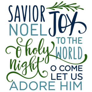 savior christmas word collage