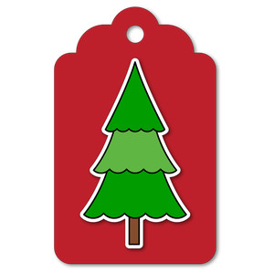 easy print + cut tag christmas tree