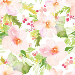 pink winter flower pattern