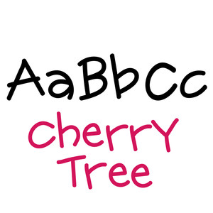 cherry tree font