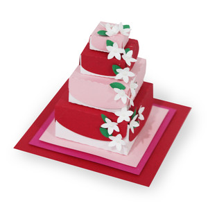 little flower 4 tiered wedding cake