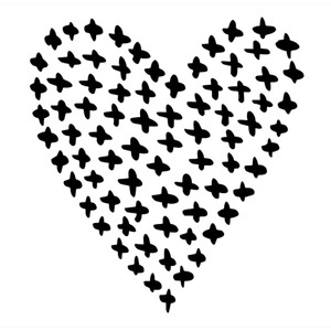 cross patterned heart