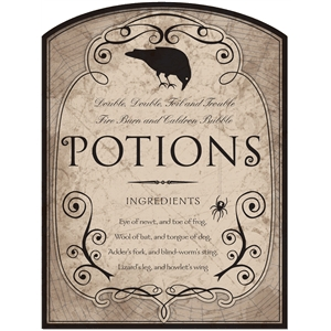 potions label