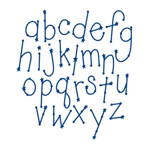 constellation letters set - lowercase