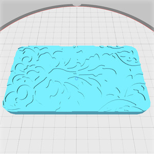 damask pattern lid for rounded box