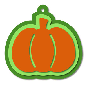 layered pumpkin tag