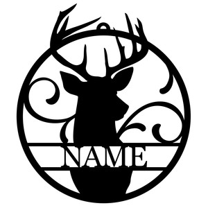 personalized tag ornament - deer stag
