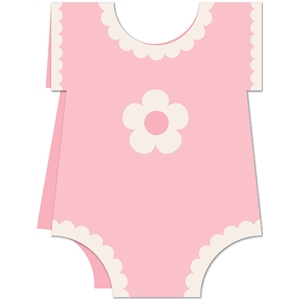 baby girl onesie card kit