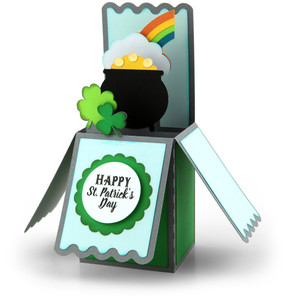 box card st. patrick's pot of gold