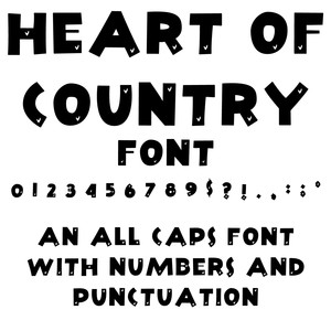 heart of country font