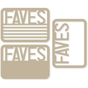 'faves' 4x6 life cards
