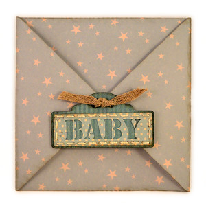 envelope for baby rocker 5x5 card