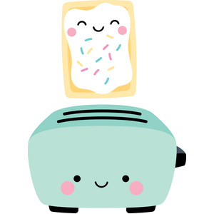pastry and toaster - so punny