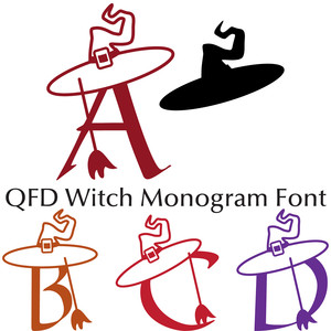 qfd witch monogram font