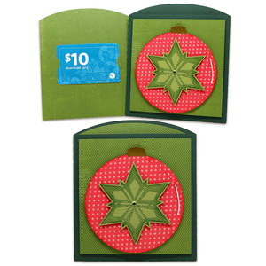 ornament gift card envelope