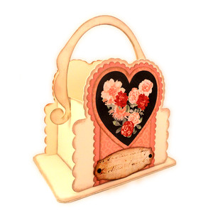 heart 3d handle basket