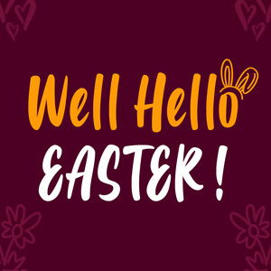 well hello easter font