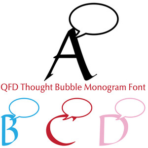 qfd thought bubble monogram font