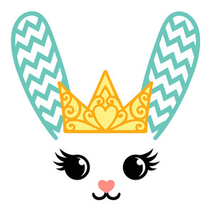 bunny in a crown