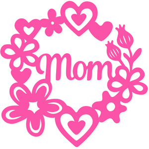 mom floral wreath