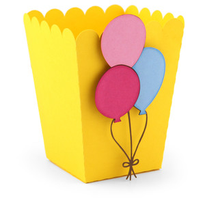 popcorn favor box balloons