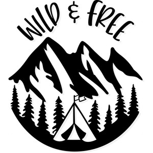 wild and free camping logo
