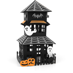 large haunted house centerpiece