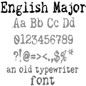 english major font
