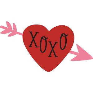 xoxo arrow heart