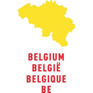 belgium country outline