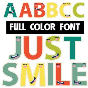 just smile color font