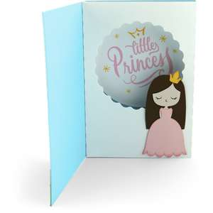 shadow box card front flap princess castle birthday