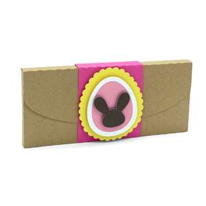 easter egg and rabbit candy box