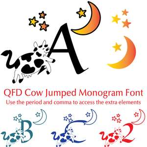 qfd cow jumped monogram font