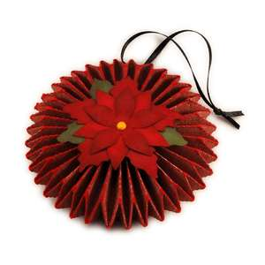disc 3d pleated poinsettia
