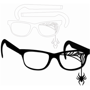 glasses-  spider web