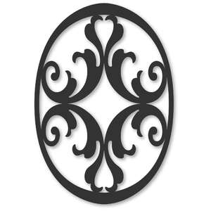 flourish oval damask